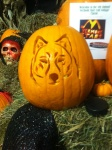 Northwood Husky – First Place in the Carving Contest! (Photo: Northwood Girls Hockey)