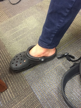 Crocs and ankles