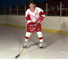 Tony Granato as a player at Wisconsin.