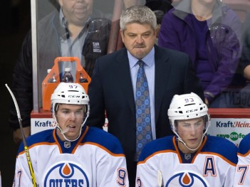 Todd McLellan, Connor McDavid, Ryan Nugent-Hopkins
