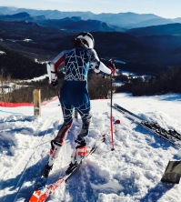Sarah Bennett '19 at the start of a recent race at Whiteface (Photo: provided)