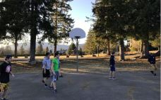 The West dorm played basketball. (Photo: provided)