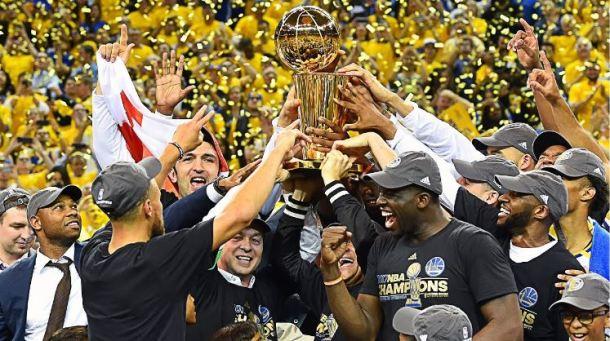 GSW celebrate championship