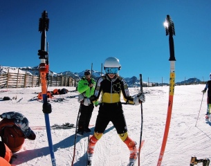Sarah Bennett '19 skiing in Chile (Photo provided).