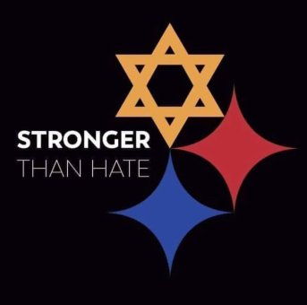 The Pittsburgh Steelers updated their logo for one game to remember the victims of the shooting (Photo: Pittsburgh Steelers)