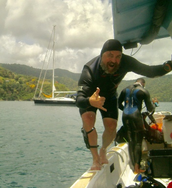 Mr. Dingle on a dive trip (Photo provided)