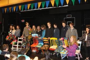 Students in Ms. Van Slyke's painting class displayed their work (Photo: Northwood School)
