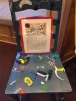 Students in Ms. Van Slyke's painting class displayed their work (Photo: Wyatt Friedlander '19)