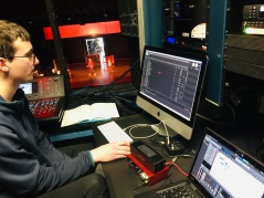 Scenes from Isaac Newcomb's sound booth (Photo: Mr. John Spear)