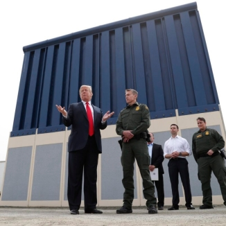 U.S. President Trump participates in tour of U.S.-Mexico border wall prototypes near Otay Mesa Port of Entry in San Diego, California