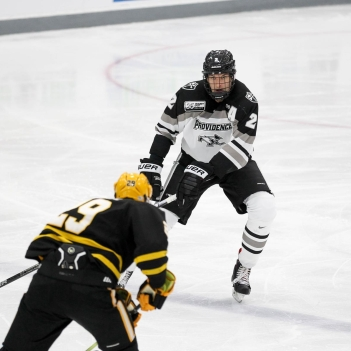 Vincent Desharnais '15 in action (Photo: Providence College)